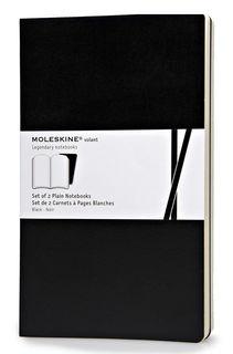 Блокнот Moleskine VOLANT LARGE 130х210мм 96стр. нелинованный мягкая обложка черный (2шт) [qp723bk]