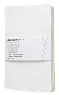 Блокнот Moleskine VOLANT LARGE 130х210мм 96стр. линейка мягкая обложка белый (2шт) [qp721wh]