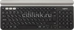 Клавиатура LOGITECH K780, USB, беспроводная, черный + белый [920-008043]