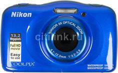 Цифровой фотоаппарат NIKON CoolPix W100, синий