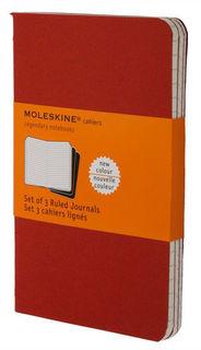 Блокнот Moleskine CAHIER JOURNAL POCKET 90x140мм обложка картон 64стр. линейка клюквенный (3шт) [ch111]