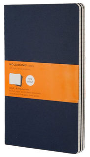 Блокнот Moleskine CAHIER JOURNAL LARGE 130х210мм обложка картон 80стр. линейка синий индиго (3шт) [ch216]
