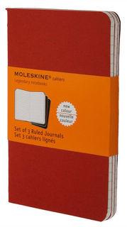 Блокнот Moleskine CAHIER JOURNAL LARGE 130х210мм обложка картон 80стр. линейка клюквенный (3шт) [ch116]