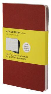 Блокнот Moleskine CAHIER JOURNAL LARGE 130х210мм обложка картон 80стр. клетка клюквенный (3шт) [ch117]