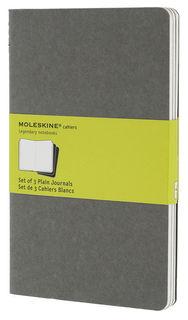 Блокнот Moleskine CAHIER JOURNAL LARGE 130х210мм обложка картон 80стр. нелинованный серый (3шт) [ch318]