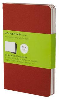 Блокнот Moleskine CAHIER JOURNAL LARGE 130х210мм обложка картон 80стр. нелинованный клюквенный (3шт) [ch118]