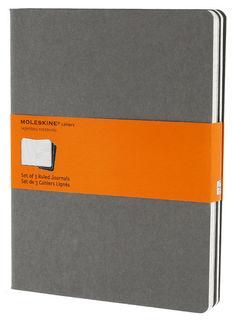 Блокнот Moleskine CAHIER JOURNAL XLarge 190х250мм обложка картон 120стр. линейка серый (3шт) [ch321]