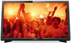 "LED телевизор PHILIPS 24PHT4031/60 ""R"", 24"", HD READY (720p), черный"