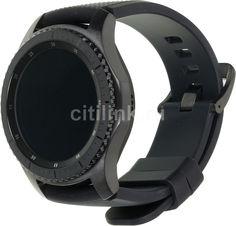"""Смарт-часы SAMSUNG Galaxy Gear S3 Frontier SM-R760, 1.3"""", титан матовый / черный [sm-r760ndaaser]"""