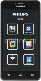 Смартфон PHILIPS S326, серый