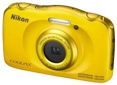 Цифровой фотоаппарат NIKON CoolPix W100, желтый