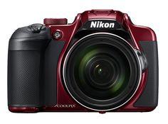 Цифровой фотоаппарат NIKON CoolPix B700, красный
