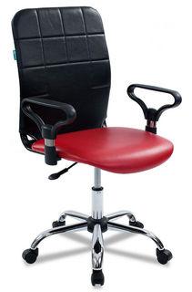Кресло БЮРОКРАТ CH-596, на колесиках, искусственная кожа, красный [ch-596/ne-13]