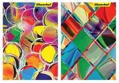 Блокнот Silwerhof 731175-17 40л. клет. А7 Яркие цвета 2диз. мел.карт. скрепка