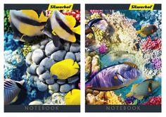 Блокнот Silwerhof 731177-17 40л. клет. А7 Подводный мир 2диз. мел.карт. скрепка