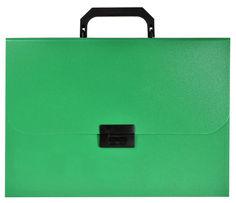 Портфель Silwerhof Basic 255077-03 13 отдел. A4 песок пластик 0.7мм зеленый