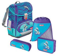 Ранец Step By Step Light2 Happy Dolphins голубой 4 предмета [00138502]