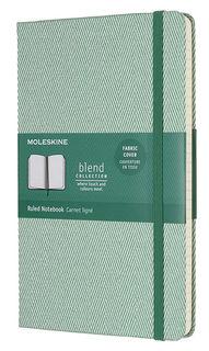 Блокнот Moleskine Limited Edition BLEND Large 130х210мм обложка текстиль 240стр. линейка зеленый [lcbd02qp060k]