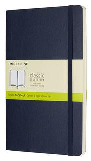 Блокнот Moleskine CLASSIC SOFT 130х210мм 192стр. нелинованный мягкая обложка фиксирующая резинка син [qp618b20]