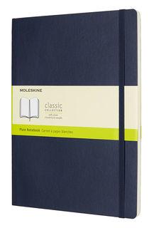 Блокнот Moleskine CLASSIC SOFT 190х250мм 192стр. нелинованный мягкая обложка фиксирующая резинка син [qp623b20]