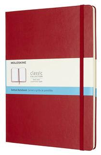 Блокнот Moleskine CLASSIC XLarge 190х250мм 192стр. пунктир твердая обложка фиксирующая резинка красн [qp093f2]