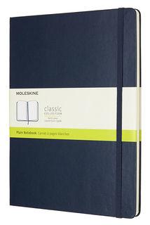 Блокнот Moleskine CLASSIC XLarge 190х250мм 192стр. нелинованный твердая обложка фиксирующая резинка [qp092b20]