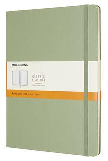 Блокнот Moleskine CLASSIC XLarge 190х250мм 192стр. линейка твердая обложка фиксирующая резинка зелен [qp090k12]