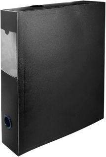 Папка-короб на кнопке Silwerhof Basic 255079-01 0.8мм корешок 70мм черный