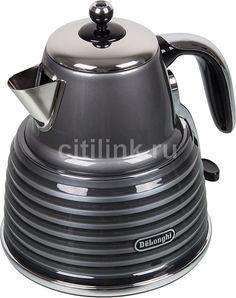 Чайник электрический DELONGHI KBZ 2001.GY, 2000Вт, серый Delonghi