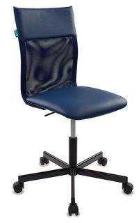 Кресло БЮРОКРАТ CH-1399, на колесиках, искусственная кожа, синий [ch-1399/blue]