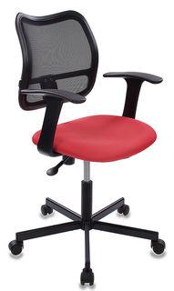 Кресло БЮРОКРАТ CH-797M, на колесиках, ткань, красный/черный [ch-797m/15-04]