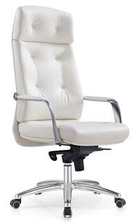 Кресло руководителя БЮРОКРАТ _DAO, на колесиках, кожа [_dao/white]
