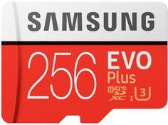 Карта памяти microSD UHS-I U3 SAMSUNG EVO PLUS 2 256 ГБ, 100 МБ/с, Class 10, MB-MC256GA/RU, 1 шт., переходник SD