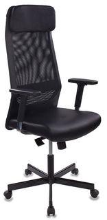 Кресло руководителя БЮРОКРАТ T-995, на колесиках, искусственная кожа, черный [t-995/black]