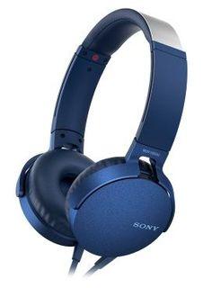 Наушники SONY MDR-XB550AP, накладные, голубой, проводные