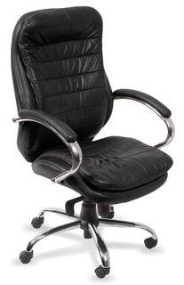 Кресло руководителя БЮРОКРАТ T-9950AXSN, на колесиках, кожа/кожзам [t-9950axsn/black]