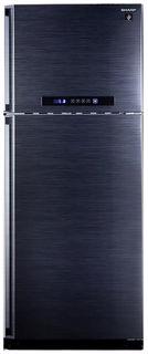 Холодильник SHARP SJ-PC58ABK, двухкамерный, черный