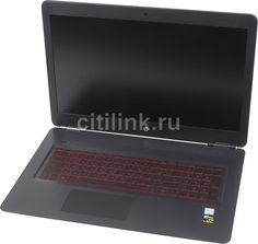 """Ноутбук HP Omen 17-w017ur, 17.3"""", Intel Core i5 6300HQ 2.3ГГц, 8Гб, 1000Гб, nVidia GeForce GTX 960M - 2048 Мб, DVD-RW, Windows 10, X7F62EA, темно-серый"""