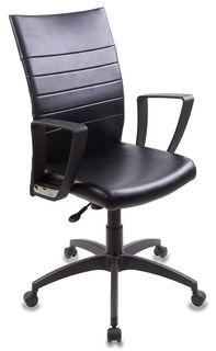 Кресло БЮРОКРАТ CH-400, на колесиках, искусственная кожа, черный [ch-400/black]