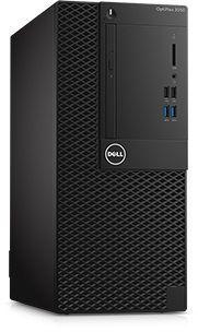 Компьютер DELL Optiplex 3050, Intel Core i3 6100, DDR4 4Гб, 500Гб, Intel HD Graphics 530, DVD-RW, Linux, черный [3050-0337]