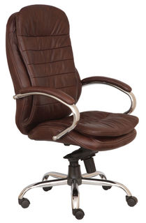 Кресло руководителя БЮРОКРАТ T-9950AXSN, кожа/кожзам [t-9950axsn/chocolate]