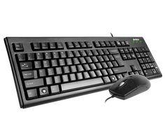 Комплект (клавиатура+мышь) A4 KRS-8372, PS/2+USB, проводной, черный