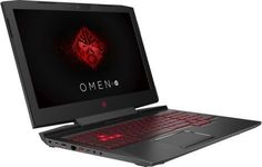 "Ноутбук HP Omen 15-ce009ur, 15.6"", Intel Core i7 7700HQ 2.8ГГц, 8Гб, 1000Гб, nVidia GeForce GTX 1050 - 4096 Мб, Windows 10, 1ZB03EA, черный"
