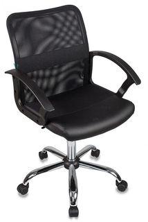 Кресло БЮРОКРАТ CH-590SL, на колесиках, искусственная кожа, черный [ch-590sl/black]
