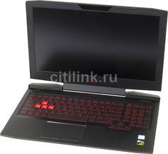 """Ноутбук HP Omen 15-ce013ur, 15.6"""", Intel Core i7 7700HQ 2.8ГГц, 16Гб, 1000Гб, nVidia GeForce GTX 1050 - 2048 Мб, Free DOS, 2CK16EA, черный"""