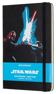 Блокнот Moleskine Limited Edition STAR WARS Large 130х210мм 240стр. линейка черный Lightsaber duel [leswc02qp060]