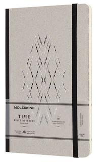 Блокнот Moleskine Limited Edition TIME NOTEBOOKS Large 130х210мм обложка картон 140стр. линейка черн [lctm31bk]