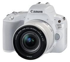 Зеркальный фотоаппарат CANON EOS 200D kit ( EF-S 18-55mm f/3.5-5.6 IS STM), белый