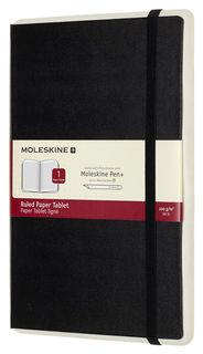 Блокнот Moleskine PAPER TABLET 130х210мм 176стр. линейка твердая обложка черный [ptnl31hbk01]