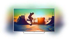 "LED телевизор PHILIPS 65PUS6412/12 ""R"", 65"", Ultra HD 4K (2160p), серебристый"